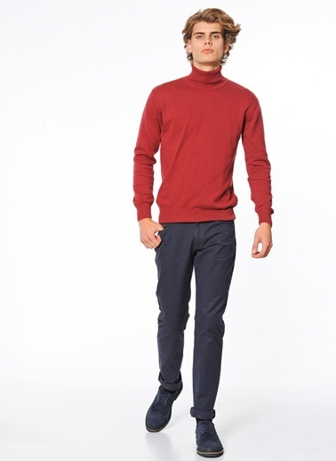 Wessi Slim Fit Chino Pantolon Lacivert